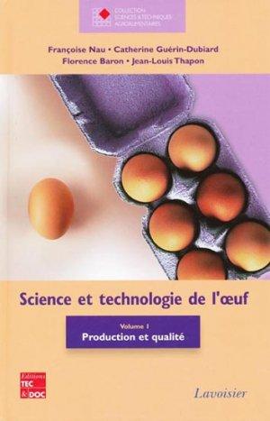 Science et technologie de l'oeuf Vol 1-lavoisier / tec et doc-2302743012233