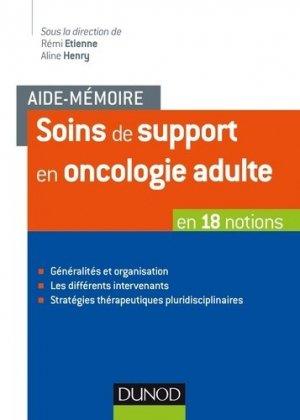 Soins de support en oncologie adulte - dunod - 9782100776467