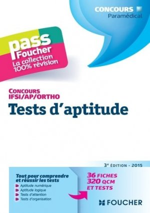 Tests d'aptitude  Concours IFSI / AP / Ortho - foucher - 9782216128884