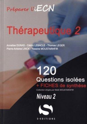 Thérapeutique - Tome 2 Niveau 2-s editions-9782356401649