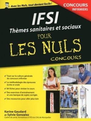 Thèmes sanitaires et sociaux pour les Nuls Concours - first - 9782754080224