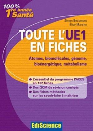 Toute l'UE1 en fiches-édiscience-9782100566822