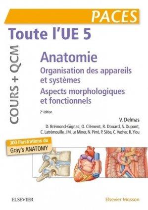 Toute l'UE5 Anatomie - Cours + QCM-elsevier / masson-9782294759239