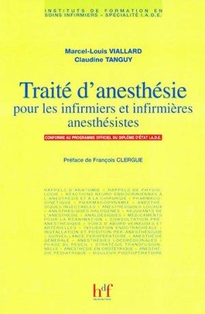 Traité d'anesthésie pour les infirmiers et infirmières anesthésistes - heures de france - 9782853852418