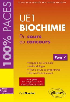 UE1 biochimie paris 7 - ellipses - 9782340021013