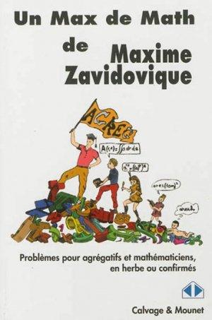 Un Max de Maths-calvage et mounet-9782916352299