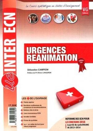 Urgences Réaniamtion - vernazobres grego - 9782818311059