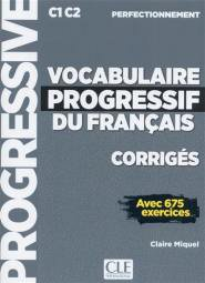 Vocabulaire progressif du français - perfectionnement - corrigés-cle international-9782090384543