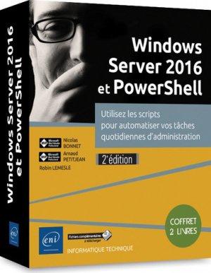 Windows server 2016 et powershell - coffret de 2 livres - eni - 9782409017797