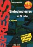 Biotechnologies en 27 fiches