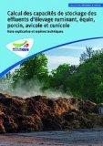 Calcul des capacités de stockage des effluents d'élevage ruminant, équin, porcin, avicole et cunicole