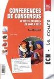 Conférences de consensus et textes officiels de 2000 à 2012