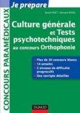 Culture générale et Tests psychotechniques au concours Orthophonie