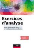 Exercices d'Analyse - Avec rappels de cours et méthodes de résolution