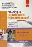 Fran�ais - Ergoth�rapie - Psychomotricit� 2014