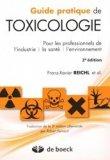 Guide pratique de toxicologie