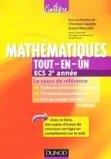 Mathématiques tout-en-un ECS 2e année