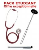PACK ETUDIANT - St�thoscope Magister - Marteau r�flex Spengler - Lampe stylo � LED Litestick Spengler - BORDEAUX