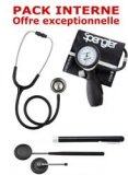 PACK INTERNE - Tensiom�tre manopoire SPENGLER Lian Nano - St�thoscope Magister - Marteau r�flex Spengler - Lampe stylo � LED Litestick Spengler - NOIR
