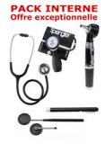PACK INTERNE - Tensiom�tre manopoire SPENGLER Lian Nano - St�thoscope Magister - Marteau r�flex Spengler - Otoscope Spengler SMARTLED � LED et fibre optique - Lampe stylo � LED Litestick Spengler - NOIR