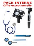 PACK INTERNE - Tensiom�tre manopoire SPENGLER Lian Nano - St�thoscope Magister - Marteau r�flex Spengler - Otoscope Spengler SMARTLED � LED et fibre optique - Lampe stylo � LED Litestick Spengler - BLEU MARINE