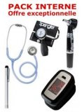 PACK INTERNE - Tensiom�tre manopoire SPENGLER Lian Nano - St�thoscope Magister - Otoscope Spengler SMARTLED � LED et fibre optique - OXYLED Oxym�tre de pouls - Lampe stylo � LED Litestick Spengler - GRIS ALIZE