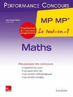 Maths Mp Mp Le Tout En 1 Dirigé Par Jean Claude Martin